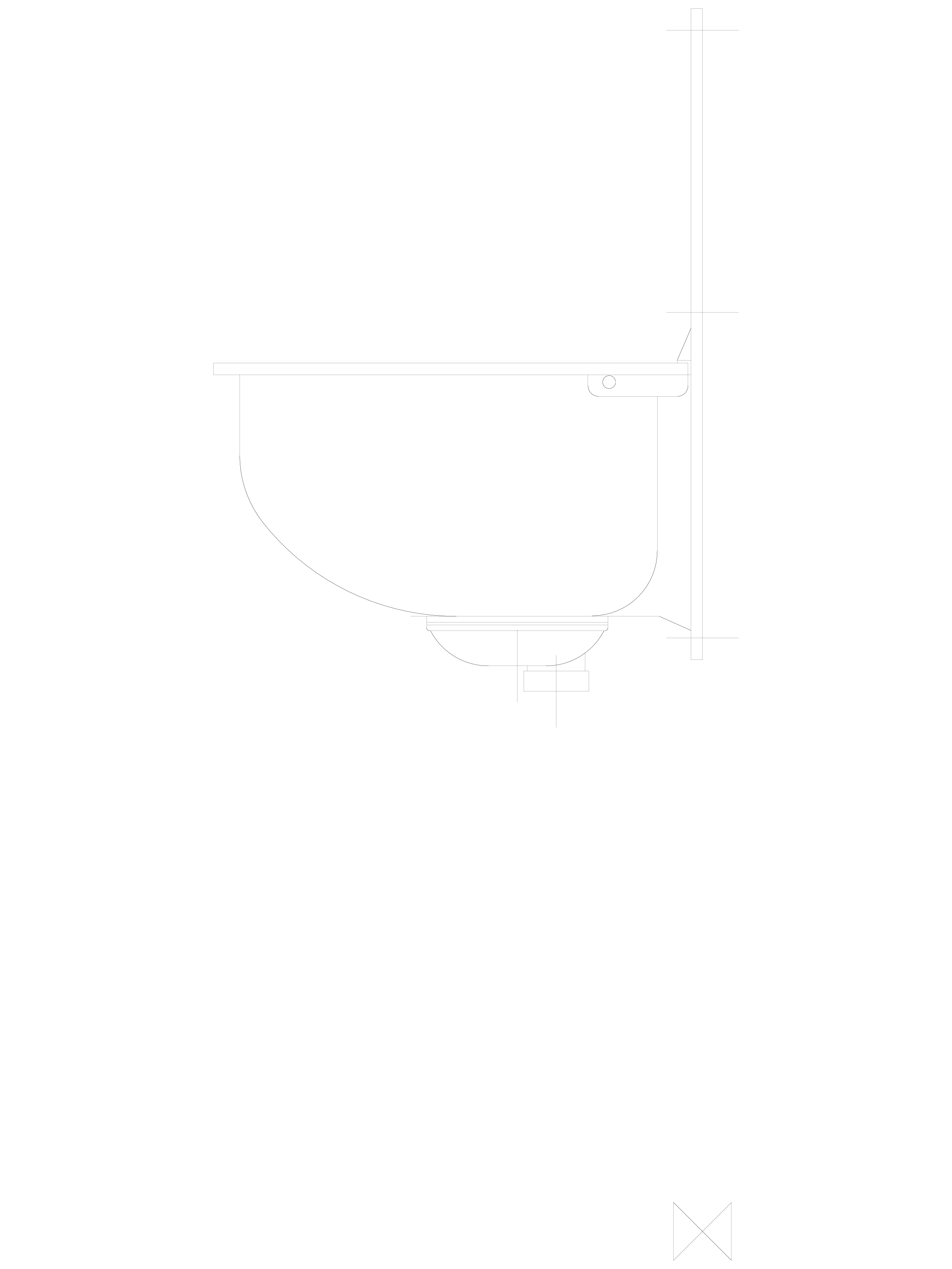 Pagina 1 - CAD-DWG Spalator din inox de perete cu spatar si gratar - z boku SANELA Detaliu de produs...