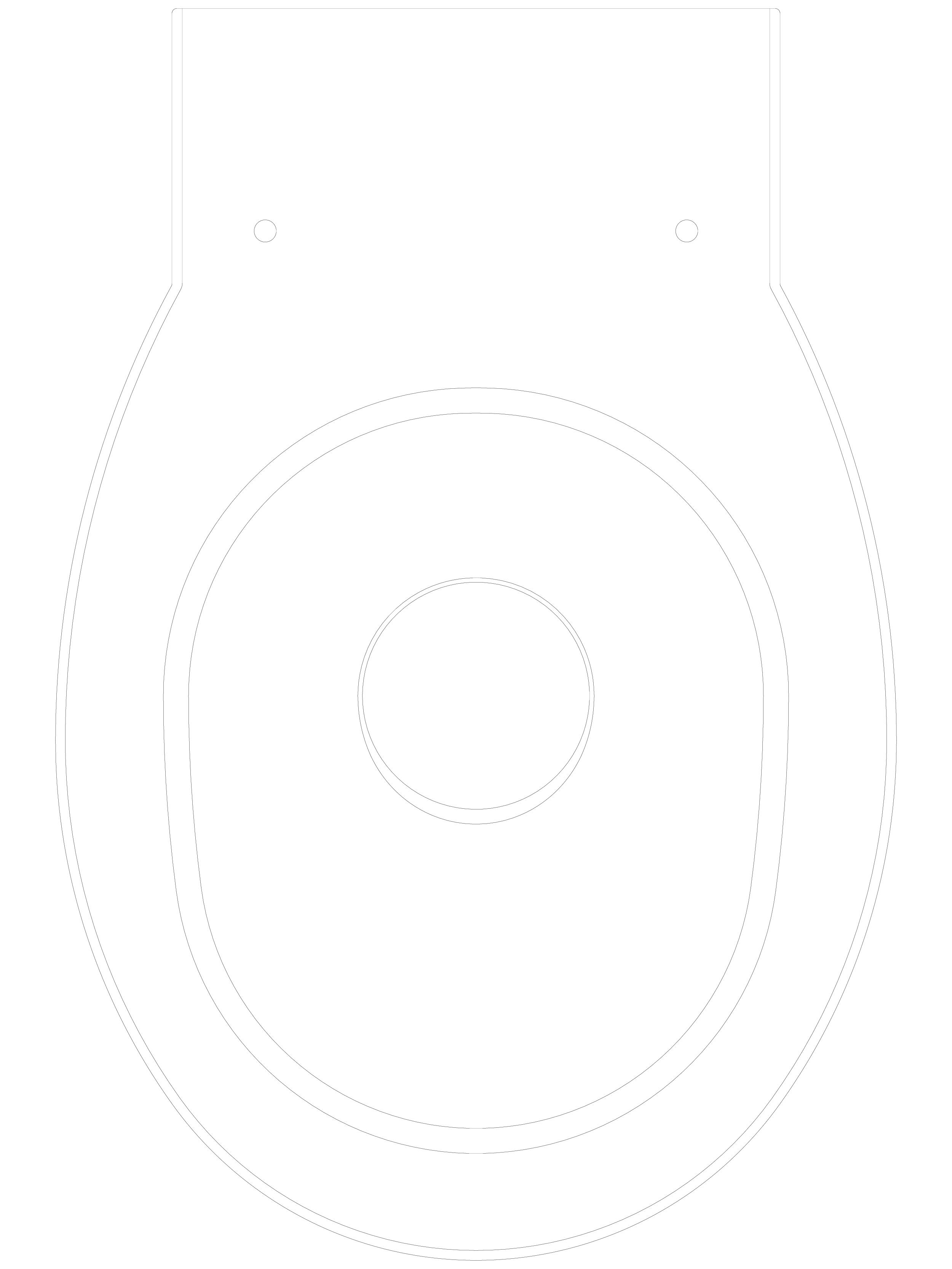 Pagina 1 - CAD-DWG Toaleta stativa din inox cu fixare de perete SANELA Detaliu de produs SLWN 03