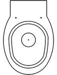Toaleta suspendata din inox cu fixare de perete SANELA - SLWN 04