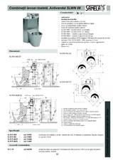 Combinatie de toaleta si lavoar antivandalism din otel-inox SANELA