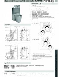 Combinatie de toaleta si lavoar antivandalism din otel-inox