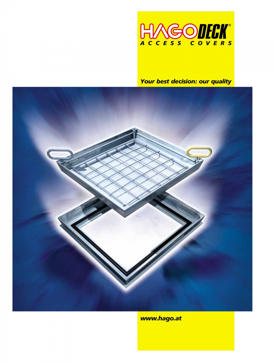 Pagina 1 - Capace pentru camine de vizitare HAGODECK B STEEL, BV-GD AUTOMATIC STEEL, BV-GDZ...
