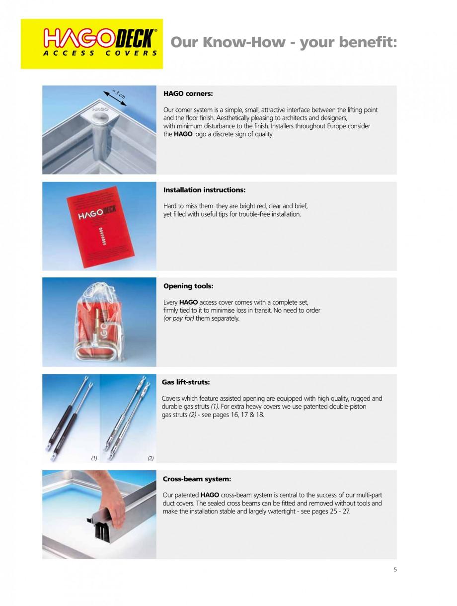 Pagina 5 - Capace pentru camine de vizitare HAGODECK B STEEL, BV-GD AUTOMATIC STEEL, BV-GDZ...