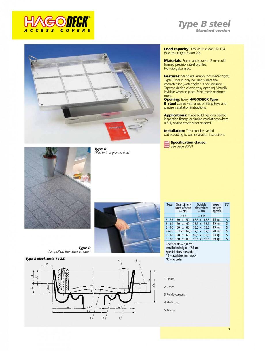 Pagina 7 - Capace pentru camine de vizitare HAGODECK B STEEL, BV-GD AUTOMATIC STEEL, BV-GDZ...