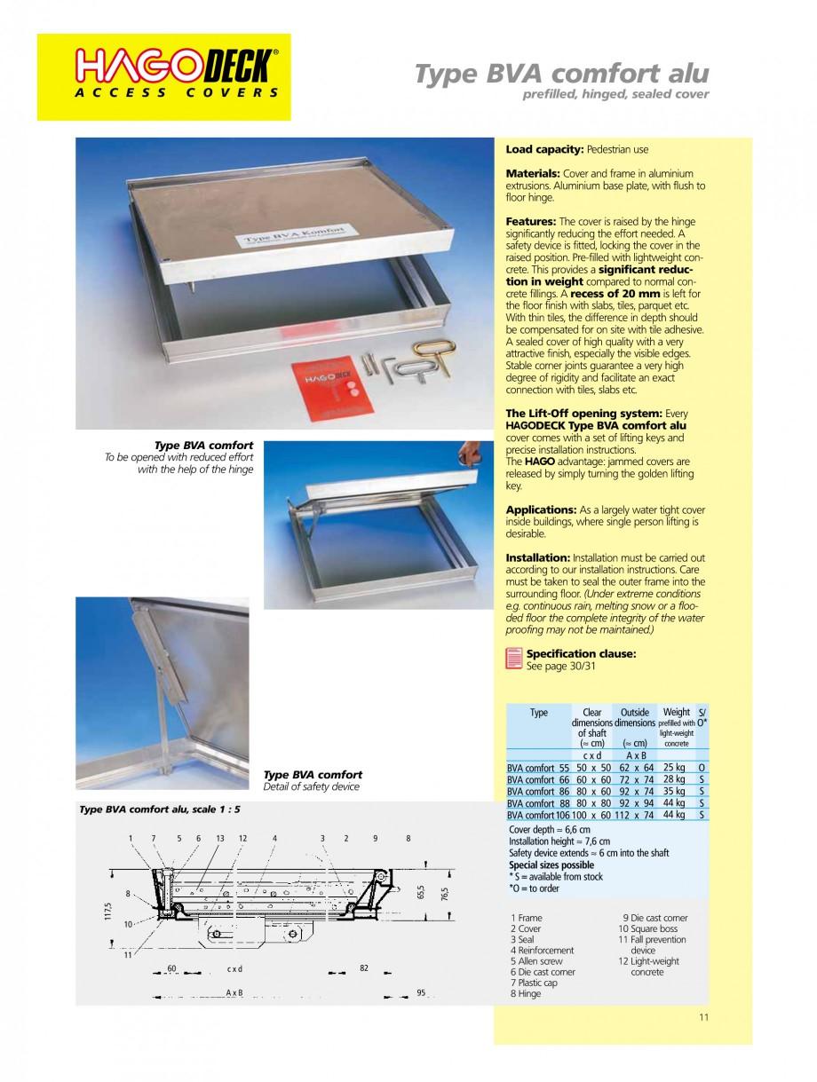 Pagina 11 - Capace pentru camine de vizitare HAGODECK B STEEL, BV-GD AUTOMATIC STEEL, BV-GDZ...