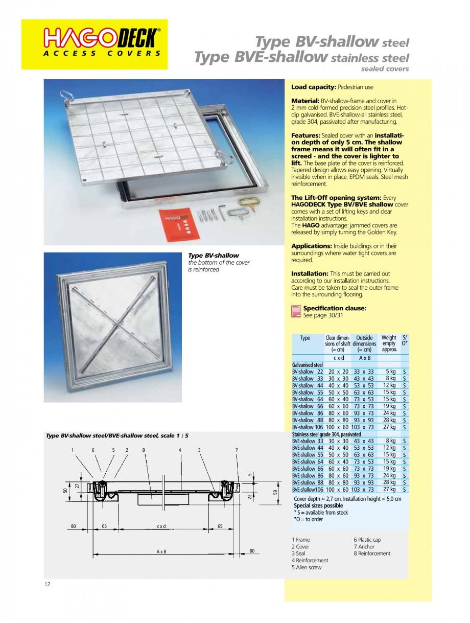 Pagina 12 - Capace pentru camine de vizitare HAGODECK B STEEL, BV-GD AUTOMATIC STEEL, BV-GDZ...