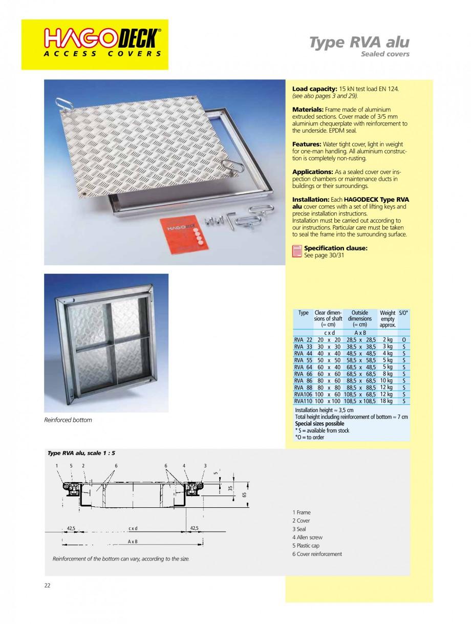 Pagina 22 - Capace pentru camine de vizitare HAGODECK B STEEL, BV-GD AUTOMATIC STEEL, BV-GDZ...