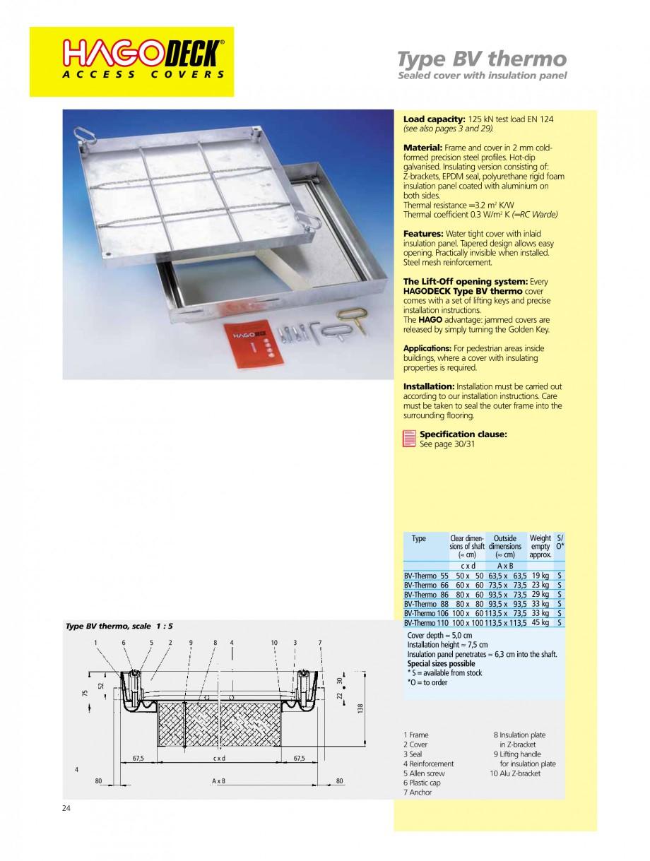 Pagina 24 - Capace pentru camine de vizitare HAGODECK B STEEL, BV-GD AUTOMATIC STEEL, BV-GDZ...