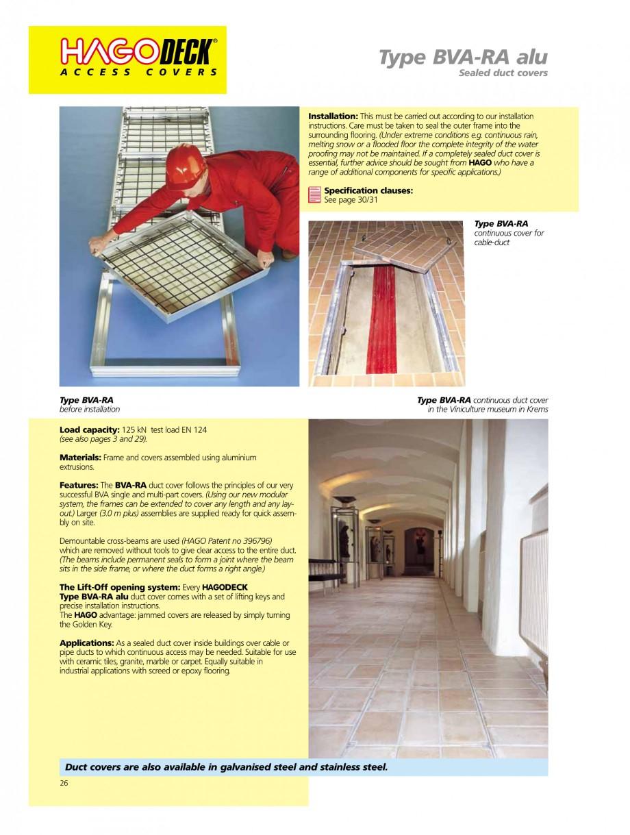 Pagina 26 - Capace pentru camine de vizitare HAGODECK B STEEL, BV-GD AUTOMATIC STEEL, BV-GDZ...