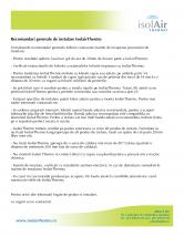 Recomandari generale de folosire a foliilor termoizolante ISOLAIR THERMO