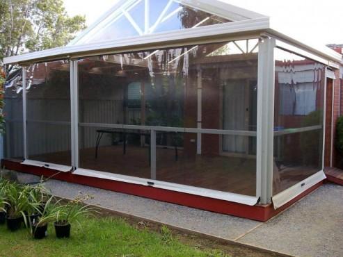 Prezentare produs Rulouri din PVC transparente de exterior EURO DAN - Poza 6