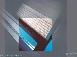 Rulouri exterioare, screen-uri si rulouri PVC transparente Euro Dan produce rulouri exterioare cu lamele din aluminiu sau PVC cat si screen-uri textile pentru obturarea partiala a luminii dar cu protectie UV si protectie termica.