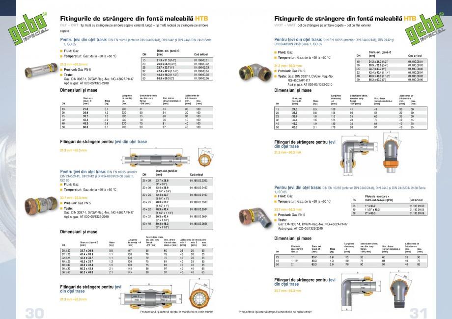 Pagina 16 - Fitinguri GEBO Fisa tehnica Romana 2.5 4