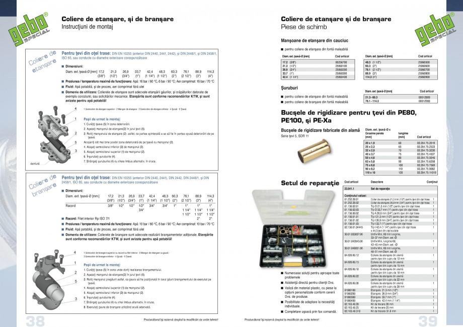 Pagina 20 - Fitinguri GEBO Fisa tehnica Romana �� 20.0 0.5  20.0 0.5 120 41 44 ...