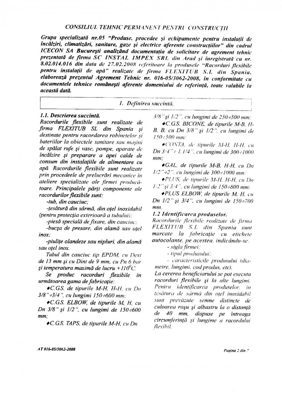 Pagina 4 - Racorduri flexibile pentru instalatii de apa HEKO Certificare produs Romana