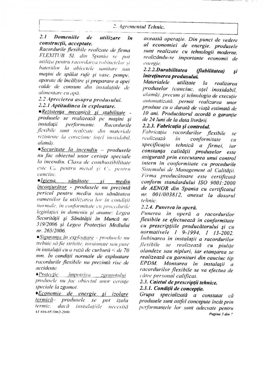 Pagina 5 - Racorduri flexibile pentru instalatii de apa HEKO Certificare produs Romana