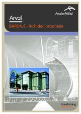 Tabla nervurata pentru inchideri orizontale ARVAL