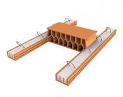 Corpuri ceramice pentru plansee Grinzi precomprimate pentru planseu POROTHERM - Grinzile POROTHERM, din beton armat precomprimat in invelis ceramic, se folosesc pentru realizarea planseelor POROTHERM, cu deschideri cuprinse intre 1,50 - 7,00 m. POROTHERM 45 / POROTHERM 60 - blocuri ceramice de umplutura, special create ca parte componenta a planseului Porotherm.