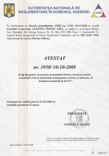 Atestat pentru proiectare de instalatii electrice, civile si industriale