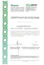 Atestat pentru servicii profesionale de consultanta si training in management