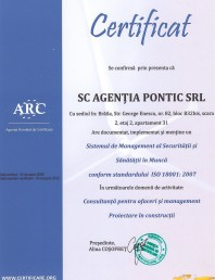 Sistem de management al Securitatii si Sanatatii in munca ISO 18001:2007