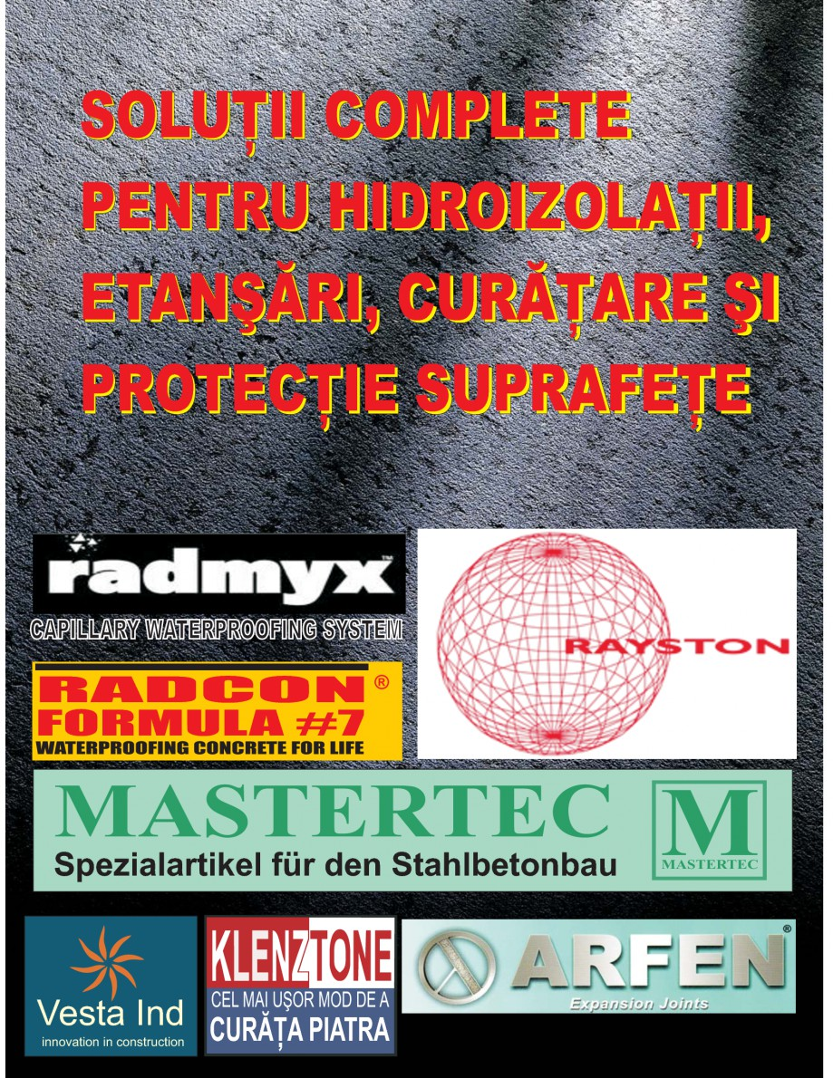 Pagina 1 - Solutii complete pentru hidroizolatii, stansari, curatare si protectie suprafete UNICO...