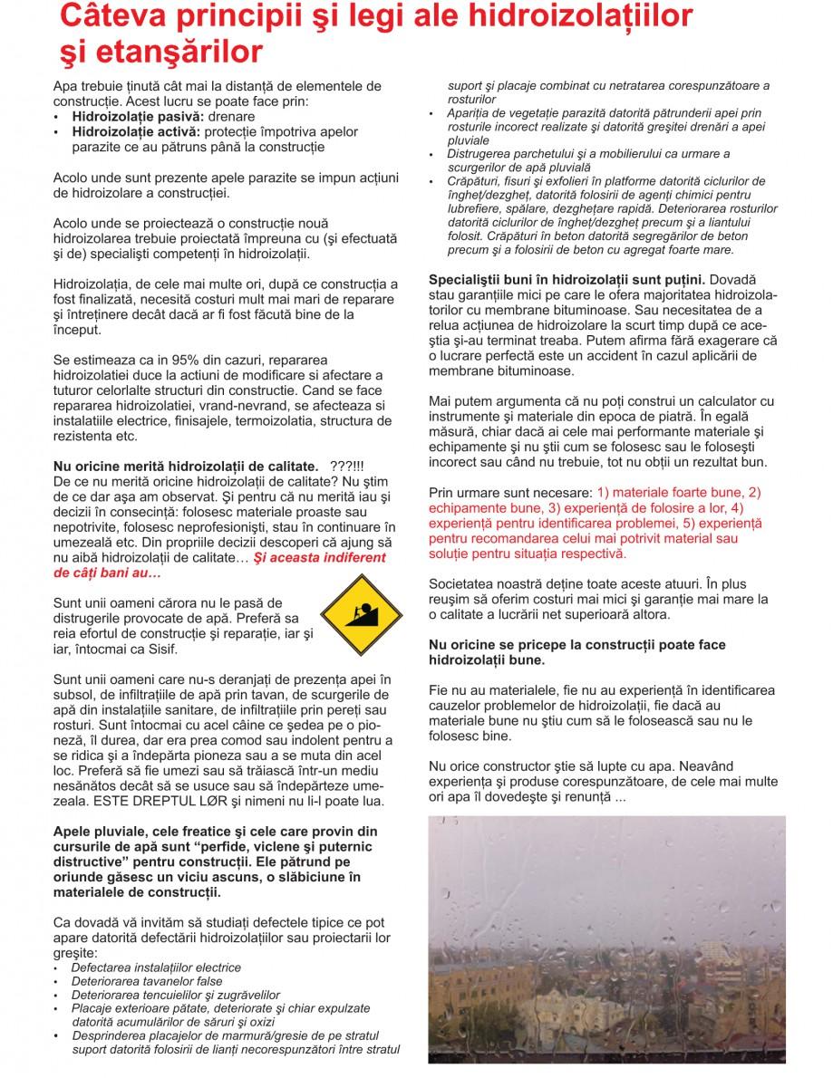 Pagina 2 - Solutii complete pentru hidroizolatii, stansari, curatare si protectie suprafete UNICO...