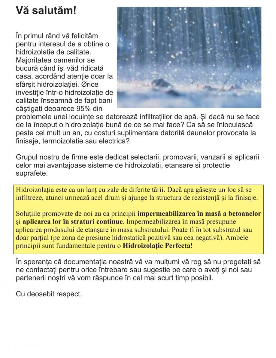 Pagina 3 - Solutii complete pentru hidroizolatii, stansari, curatare si protectie suprafete UNICO...