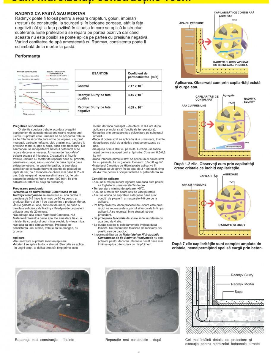 Pagina 7 - Solutii complete pentru hidroizolatii, stansari, curatare si protectie suprafete UNICO...