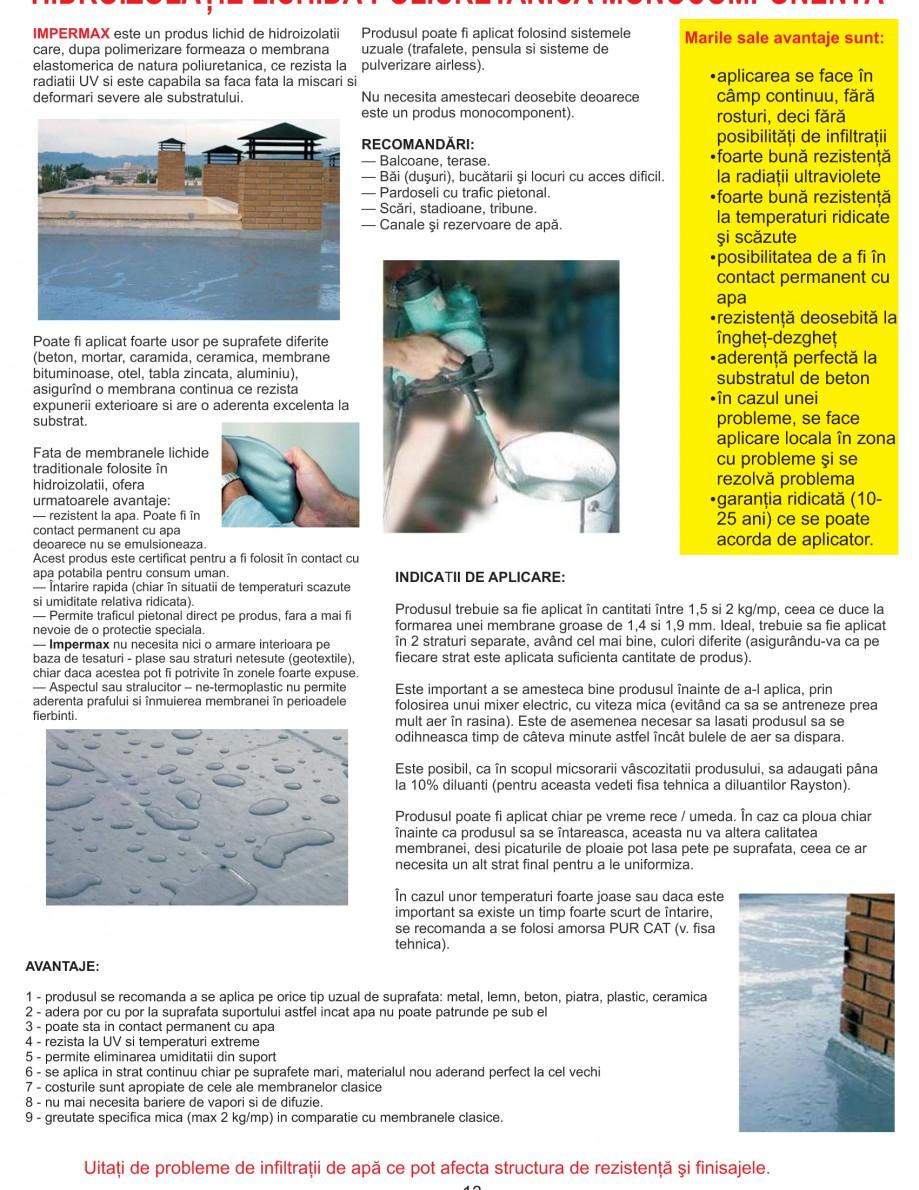 Pagina 16 - Solutii complete pentru hidroizolatii, stansari, curatare si protectie suprafete UNICO ...