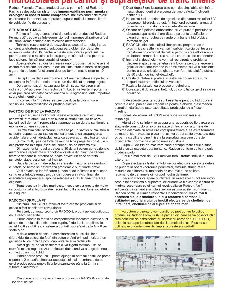 Pagina 23 - Solutii complete pentru hidroizolatii, stansari, curatare si protectie suprafete UNICO ...