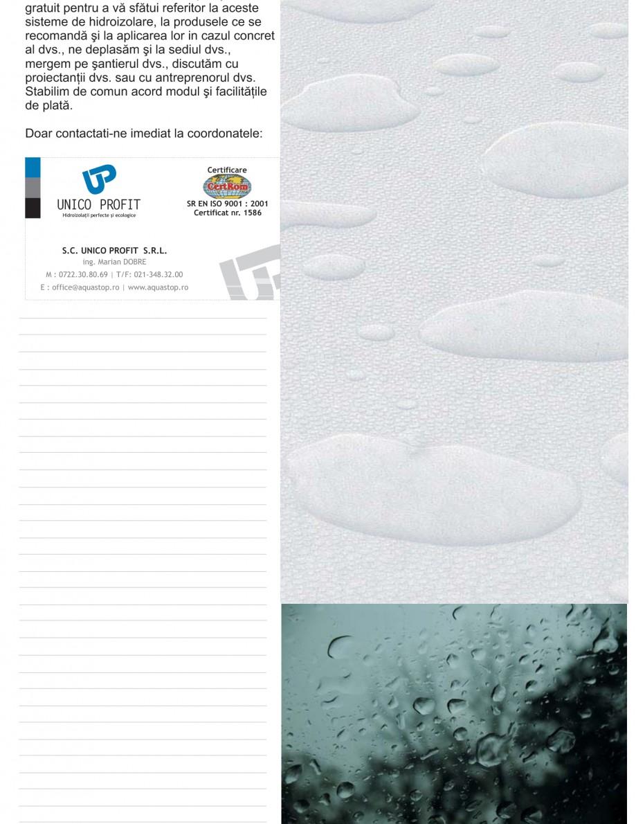Pagina 24 - Solutii complete pentru hidroizolatii, stansari, curatare si protectie suprafete UNICO ...