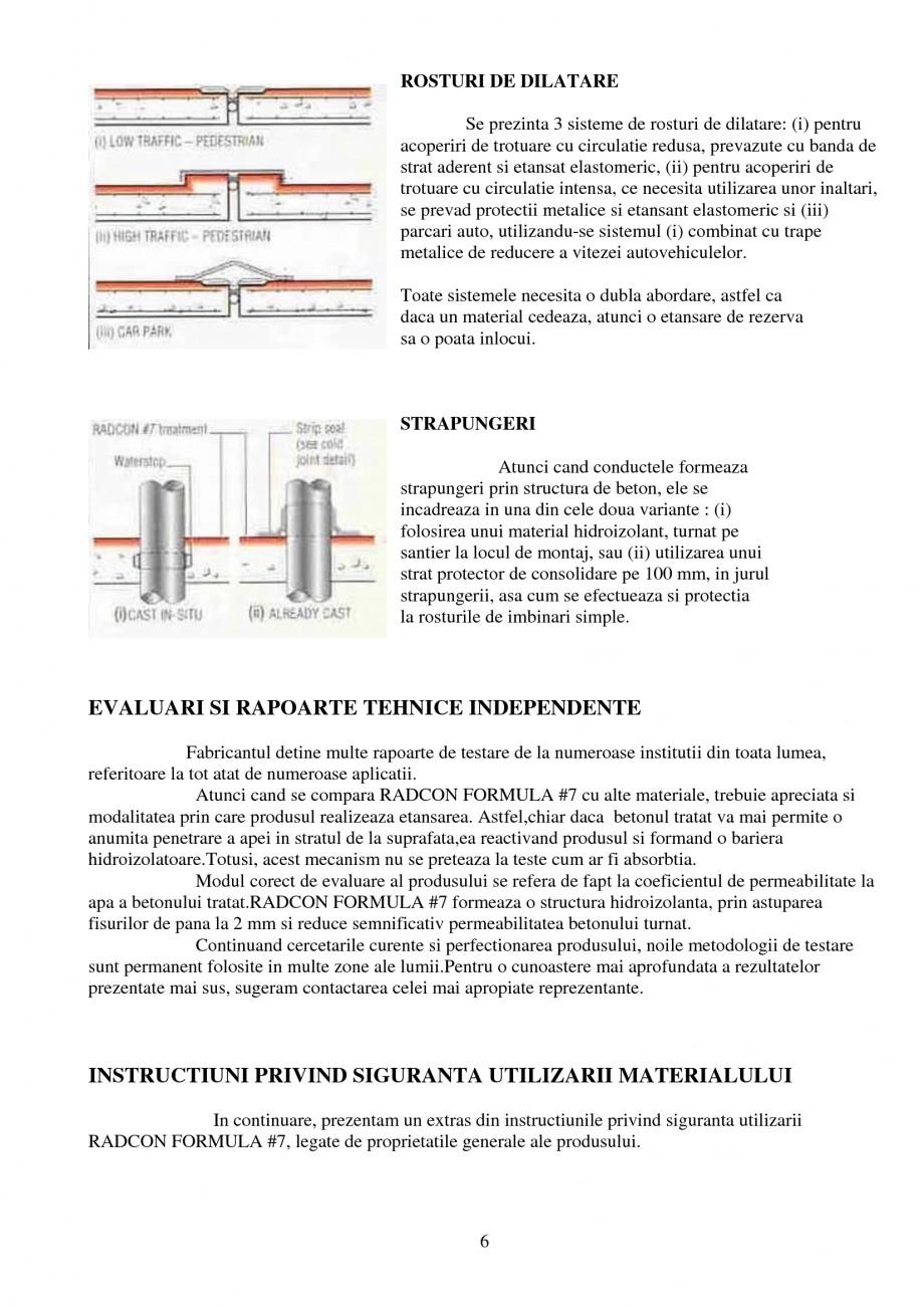 Pagina 6 - Tratament de impermeabilizare UNICO PROFIT RADCON FORMULA #7 Catalog, brosura Romana za ...