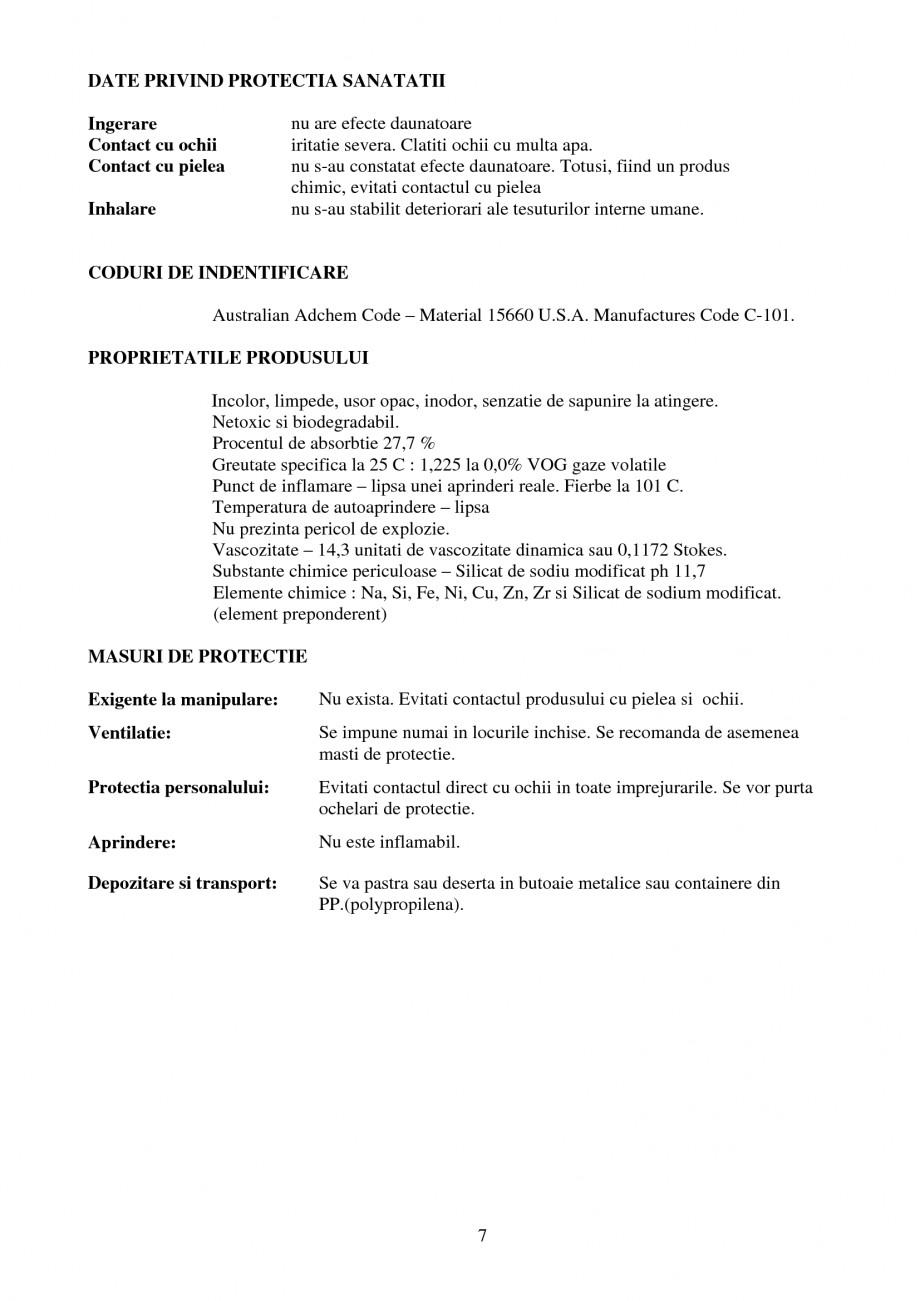 Pagina 7 - Tratament de impermeabilizare UNICO PROFIT RADCON FORMULA #7 Catalog, brosura Romana...