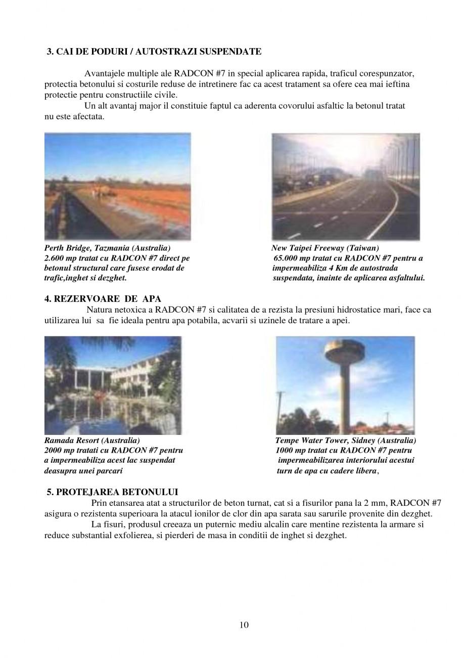 Pagina 10 - Tratament de impermeabilizare UNICO PROFIT RADCON FORMULA #7 Catalog, brosura Romana...