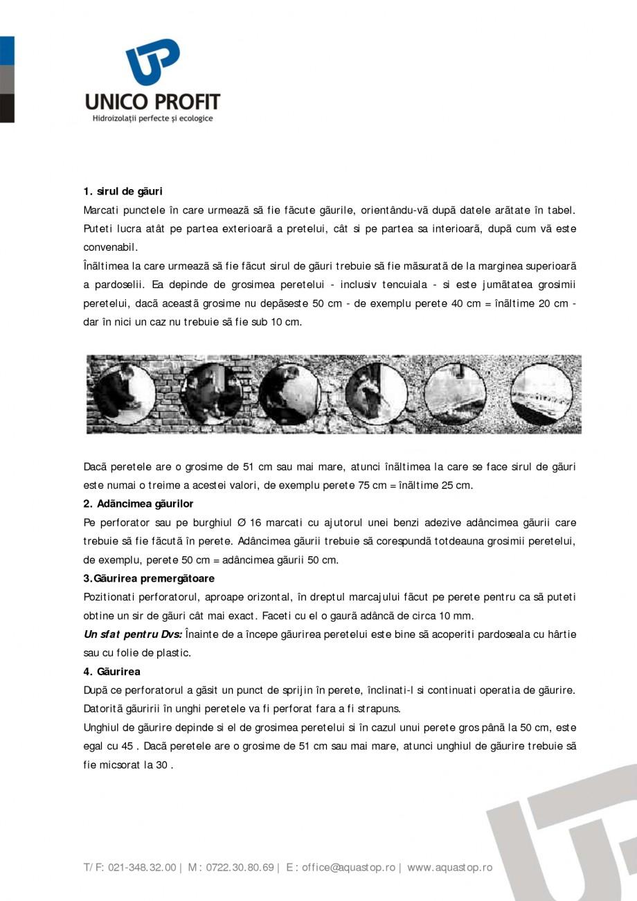 Pagina 4 - Produs antiigrasie UNICO PROFIT BIOSAL Instructiuni montaj, utilizare Romana  BIOSAL... ...
