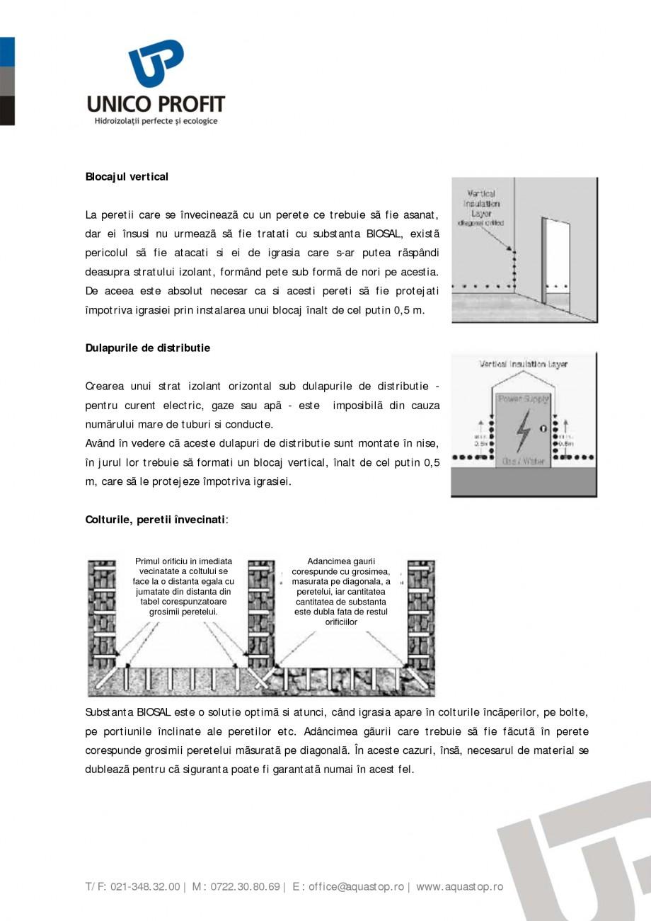 Pagina 6 - Produs antiigrasie UNICO PROFIT BIOSAL Instructiuni montaj, utilizare Romana eti cu el o...