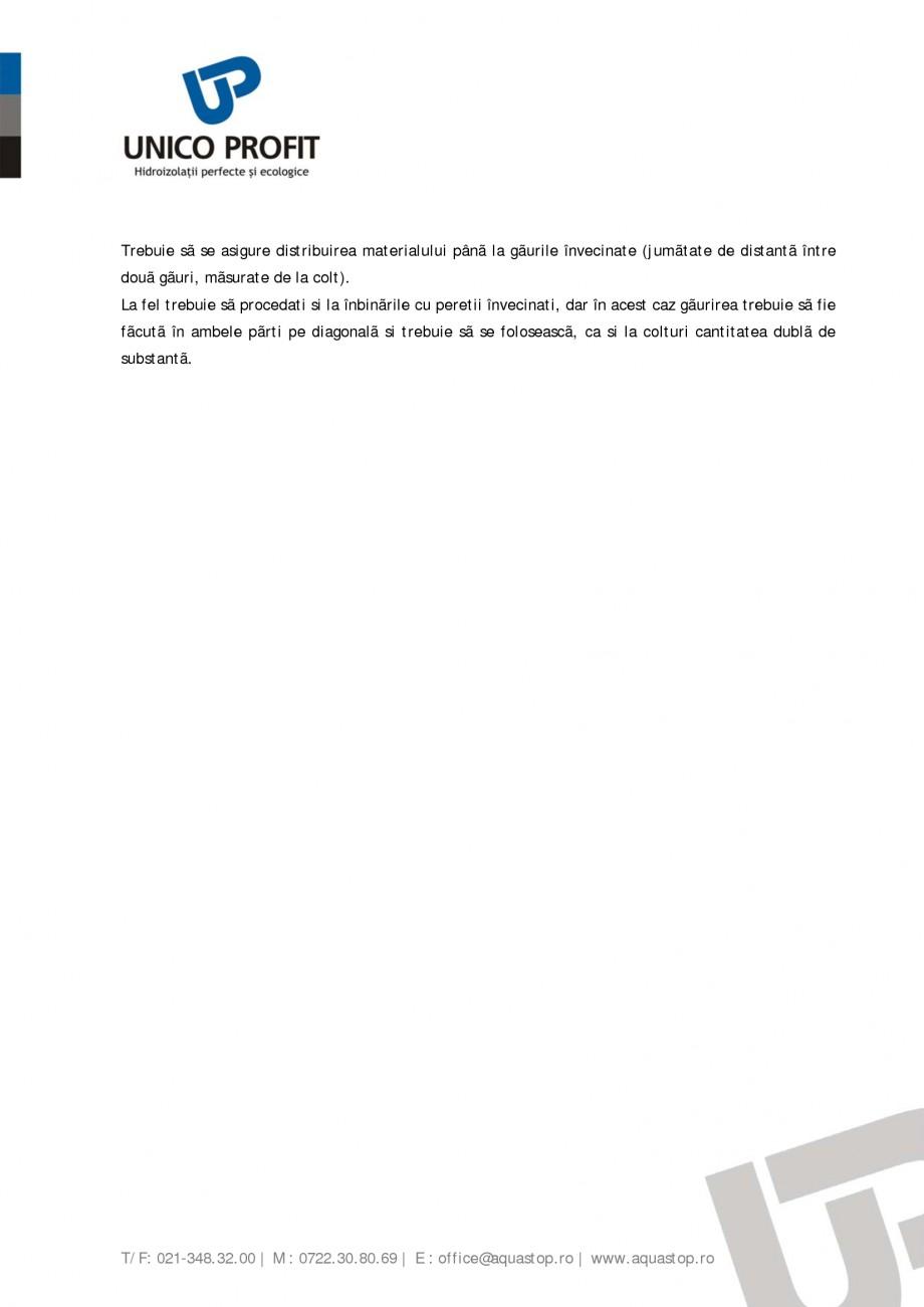 Pagina 7 - Produs antiigrasie UNICO PROFIT BIOSAL Instructiuni montaj, utilizare Romana antã din...