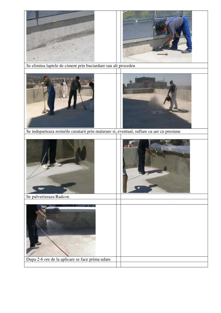 Pagina 2 - Aplicabilitatea produselor UNICO PROFIT RADCON FORMULA #7, RADFLOOR, RADGUARD, RADMYX...