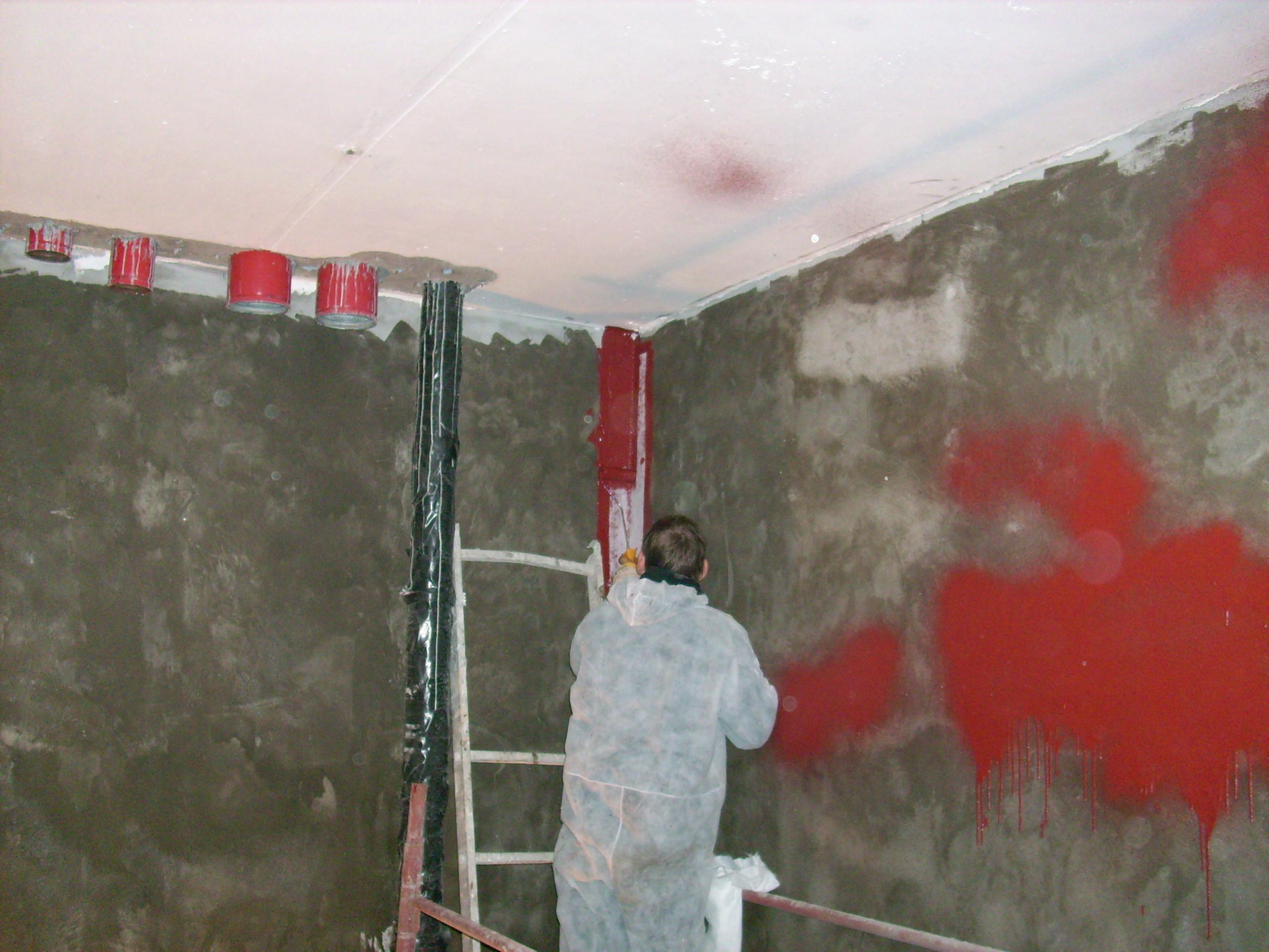 Aplicarea tratamentelor de impermeabilizare - Bazin de apa pentru incendiu - DAGESH - Turn Platinum UNICO PROFIT - Poza 14