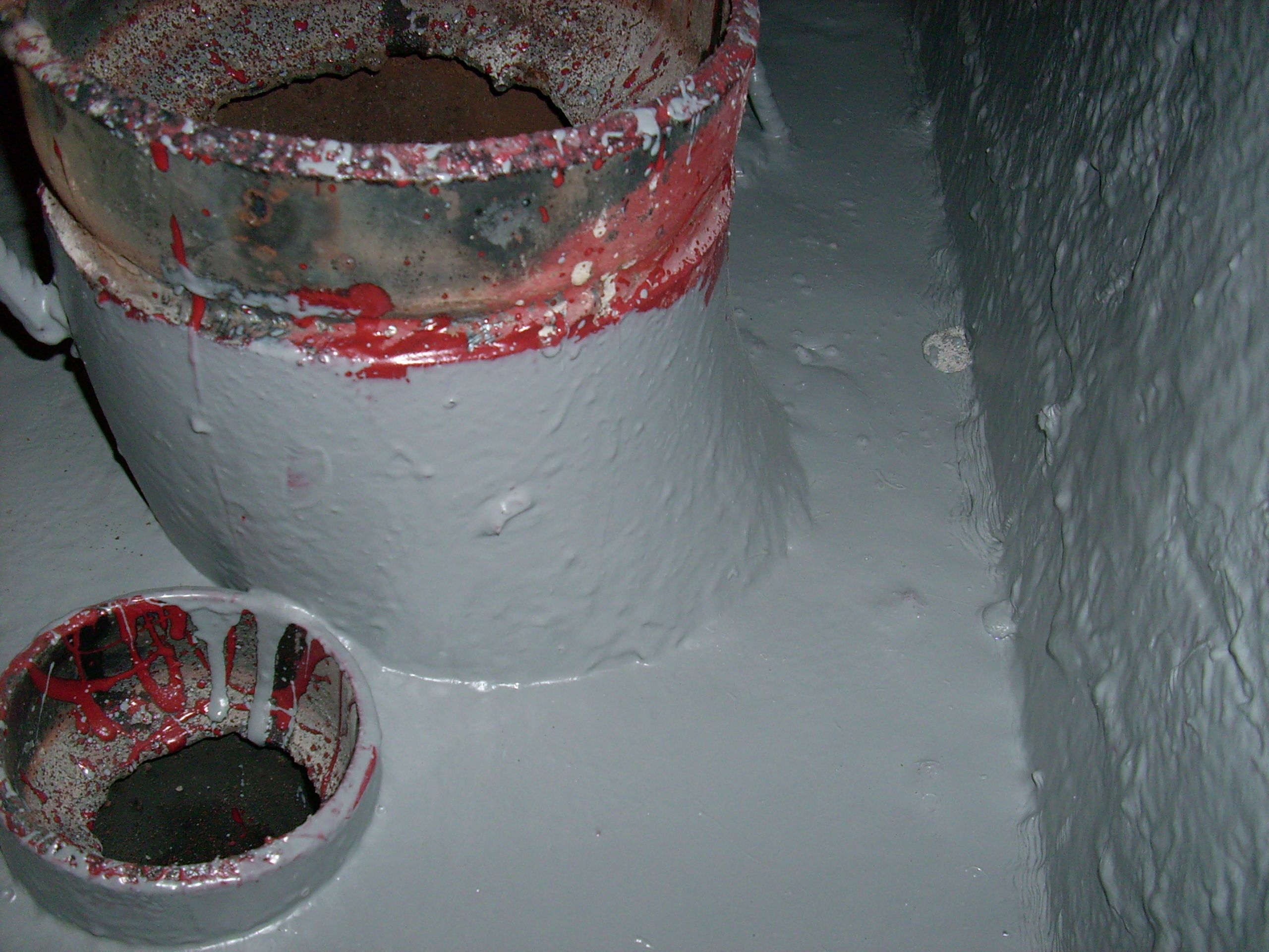 Aplicarea tratamentelor de impermeabilizare - Bazin de apa pentru incendiu - DAGESH - Turn Platinum UNICO PROFIT - Poza 21