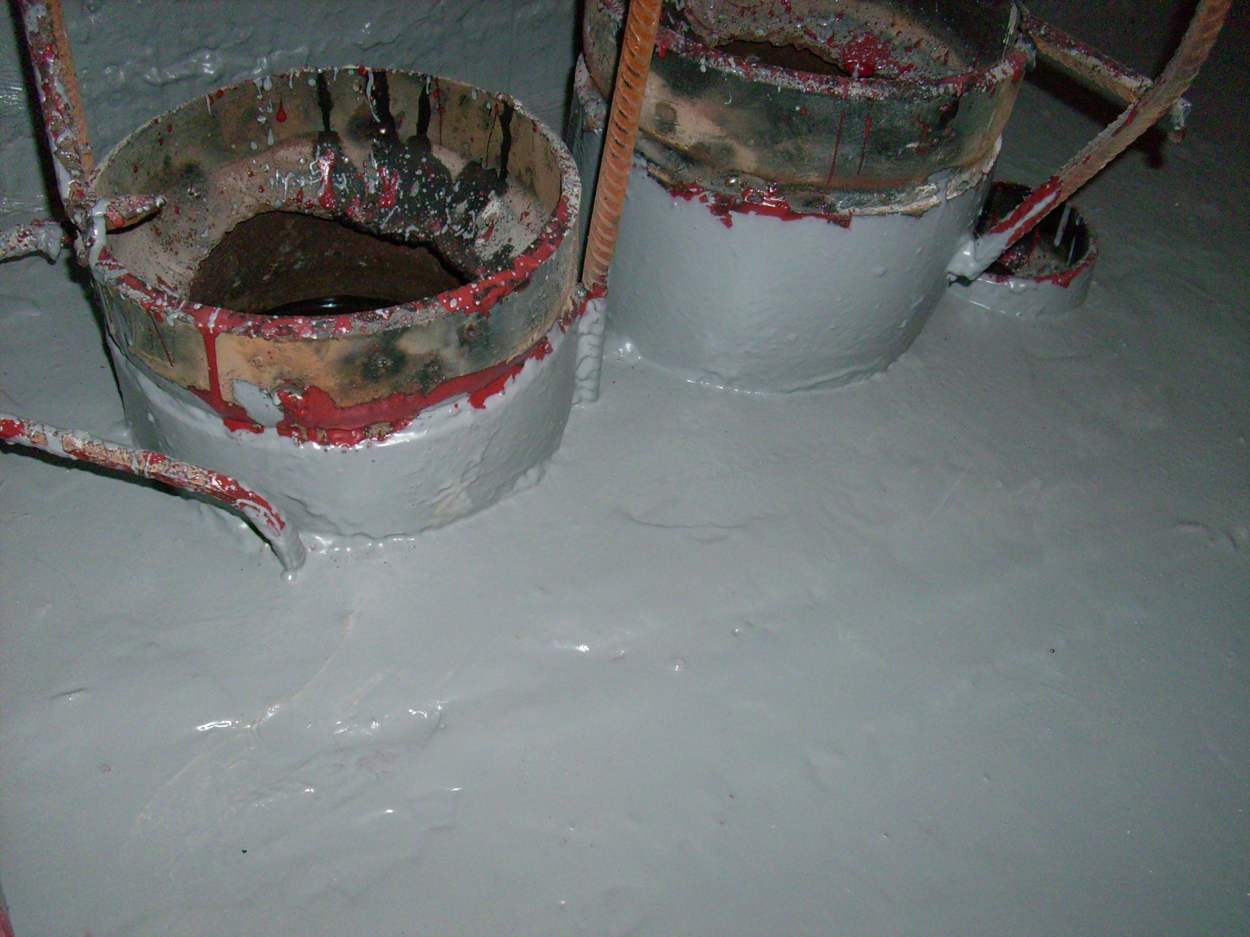 Aplicarea tratamentelor de impermeabilizare - Bazin de apa pentru incendiu - DAGESH - Turn Platinum UNICO PROFIT - Poza 31
