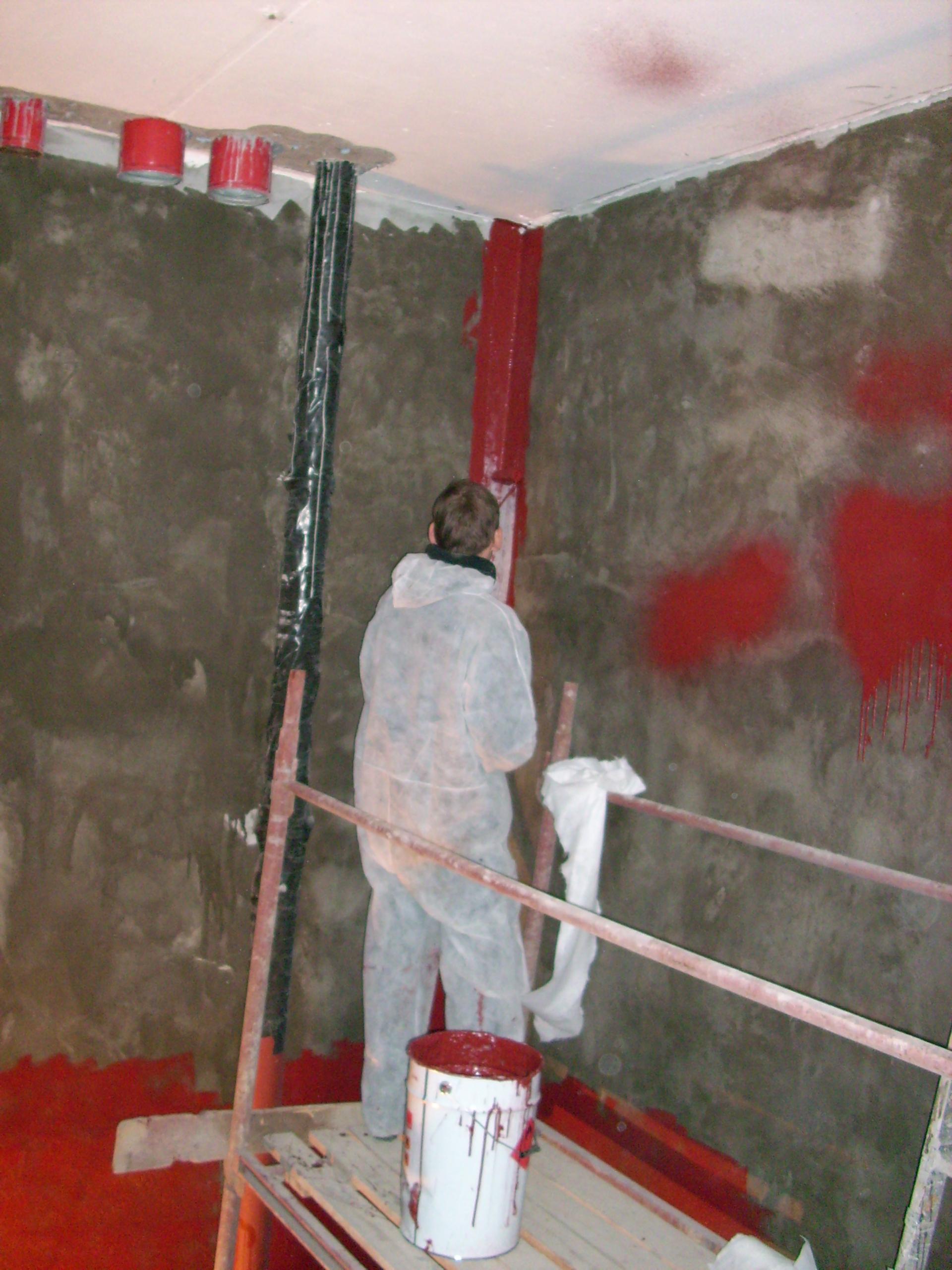 Aplicarea tratamentelor de impermeabilizare - Bazin de apa pentru incendiu - DAGESH - Turn Platinum UNICO PROFIT - Poza 36