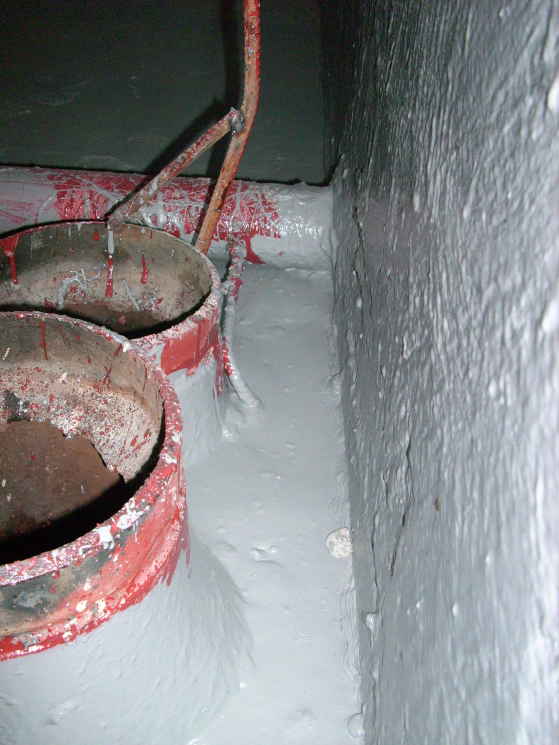 Aplicarea tratamentelor de impermeabilizare - Bazin de apa pentru incendiu - DAGESH - Turn Platinum UNICO PROFIT - Poza 52