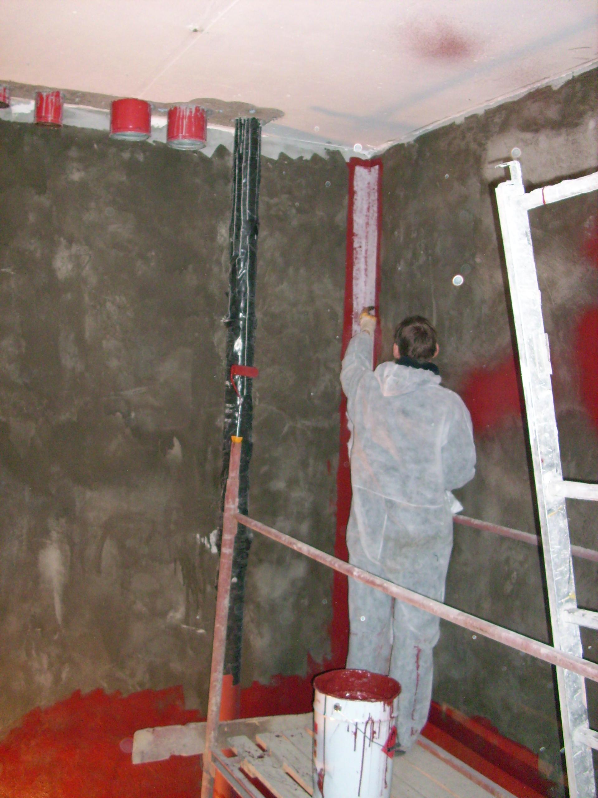 Aplicarea tratamentelor de impermeabilizare - Bazin de apa pentru incendiu - DAGESH - Turn Platinum UNICO PROFIT - Poza 62