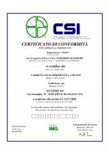 Certificat de conformitate pentru sistem cu 4 role ECLISSE