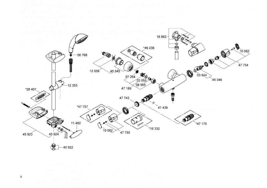 instructiuni montaj utilizare baterii termostatate 34179 34181 34196 grohtherm 3000 grohe. Black Bedroom Furniture Sets. Home Design Ideas