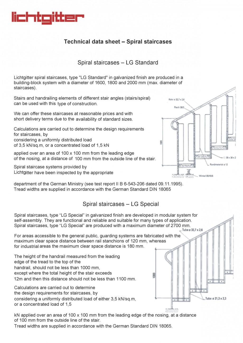 Pagina 1 - Scari cu structura metalica  LICHTGITTER RO LG Standard, LG Special Fisa tehnica Engleza ...