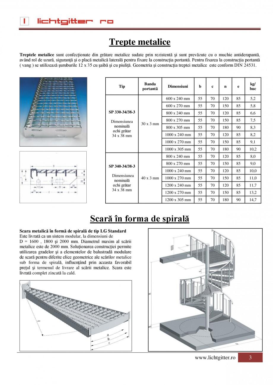 Pagina 1 - Trepte metalice LICHTGITTER RO Fisa tehnica Romana Trepte metalice Treptele metalice sunt...