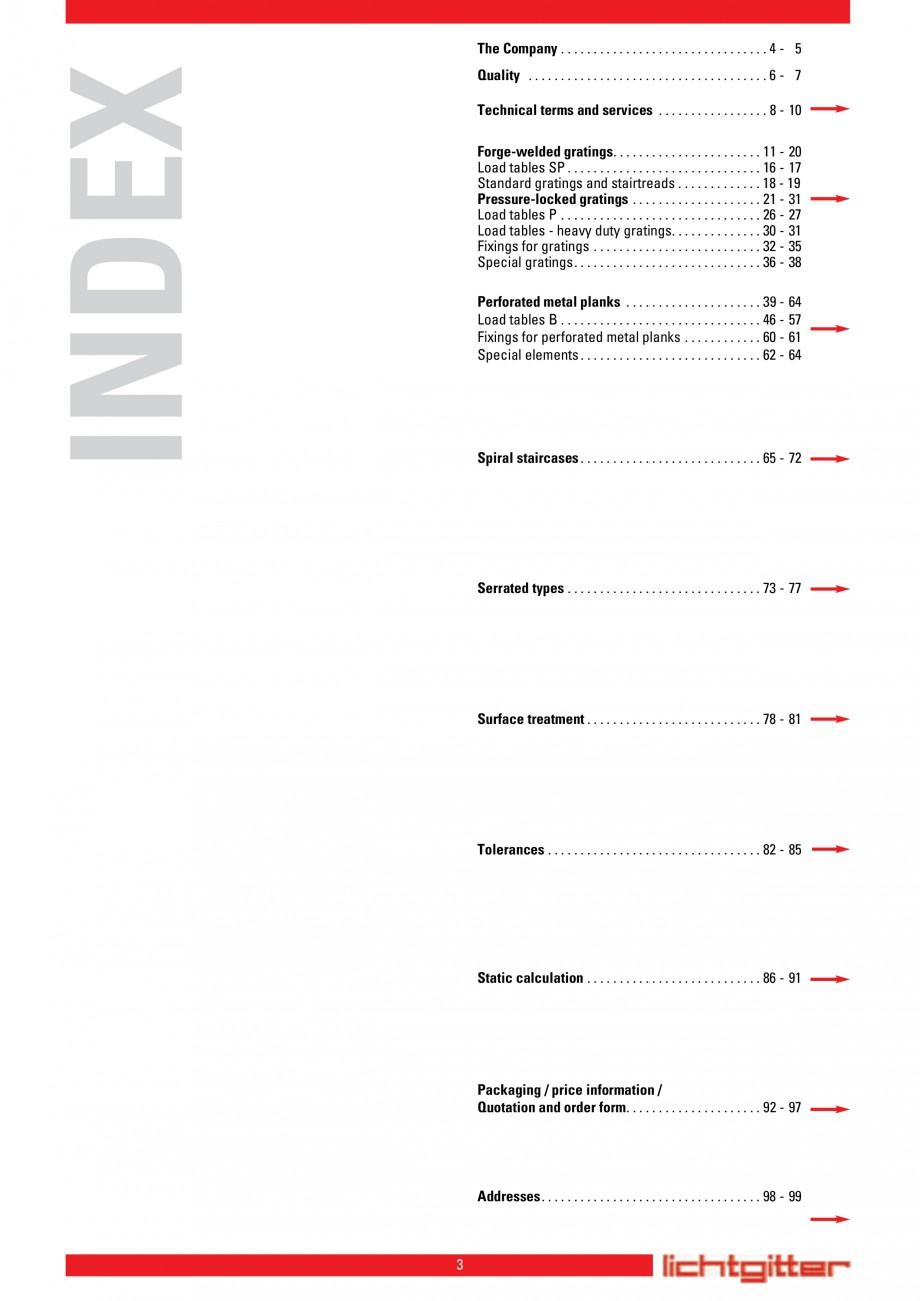 Pagina 3 - Scari si trepte metalice LICHTGITTER RO LG Special, LG Standard Catalog, brosura Engleza ...